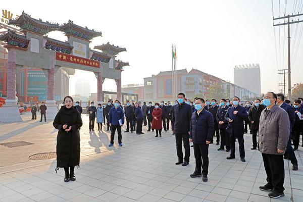 安徽省长李国英考察野升博(亳州)中药城